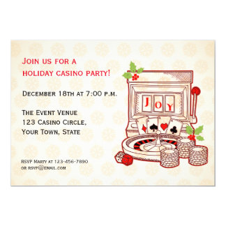 Slot Machine Joy Holiday Invitation