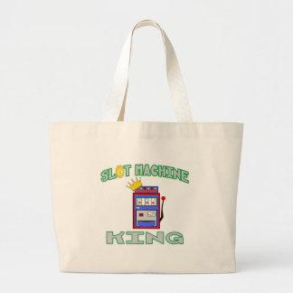 Slot Machine King Tote Bags