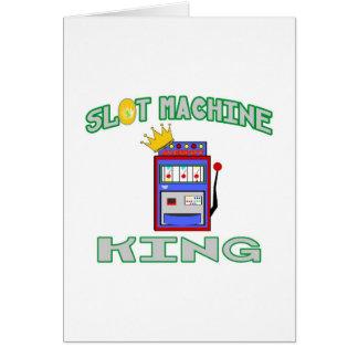 Slot Machine King Greeting Card