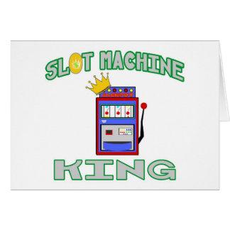Slot Machine King Greeting Cards