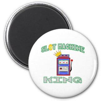 Slot Machine King 2 Inch Round Magnet
