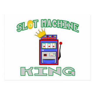 Slot Machine King Postcard
