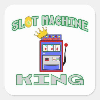 Slot Machine King Square Sticker