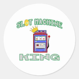 Slot Machine King Round Sticker