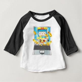 Slot Machine Laptop Computer Concept Baby T-Shirt