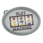 Slot Machine Oval Belt Buckle