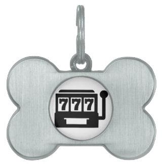Slot machine pet ID tags
