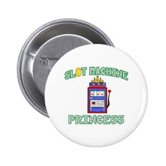 Slot Machine Princess (Tiara) Button