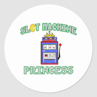 Slot Machine Princess (Tiara) Classic Round Sticker