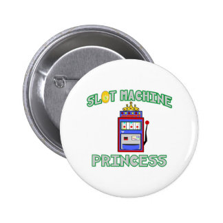 Slot Machine Princess (Tiara) Pinback Button