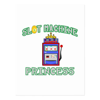 Slot Machine Princess (Tiara) Post Card