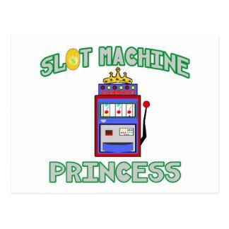 Slot Machine Princess (Tiara) Postcard