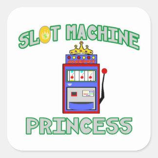 Slot Machine Princess (Tiara) Square Sticker