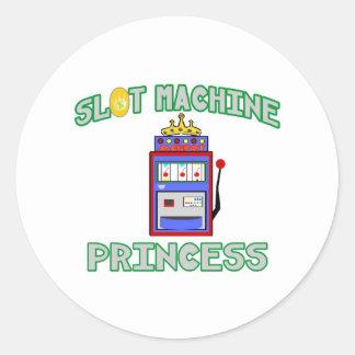 Slot Machine Princess (Tiara) Classic Round Sticker