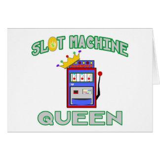 Slot Machine Queen Card