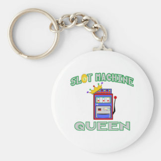 Slot Machine Queen Key Chain