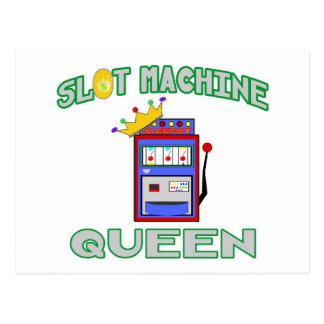 Slot Machine Queen Postcard