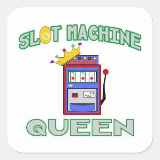Slot Machine Queen Square Sticker