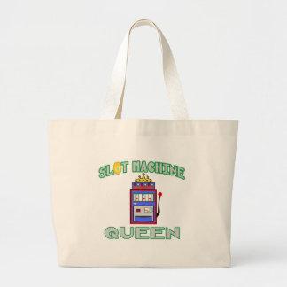Slot Machine Queen (Tiara) Large Tote Bag