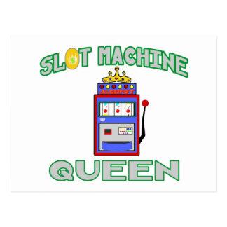 Slot Machine Queen (Tiara) Postcard