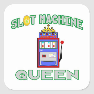 Slot Machine Queen (Tiara) Square Sticker
