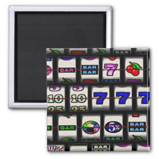 Slot Machine Reels 2 Inch Square Magnet