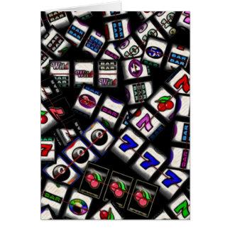 Slot Machine Reels Collage Card