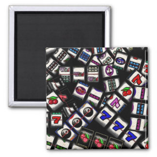 Slot Machine Reels Collage Magnet