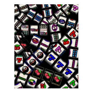 Slot Machine Reels Collage Postcard