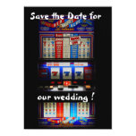 Slot Machine Save the Date Lucky in Love Custom Invitation