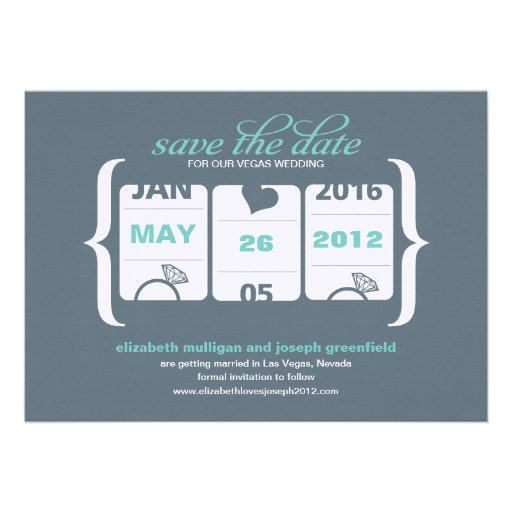 Slot Machine Save the Date - Wedding Personalized Announcements