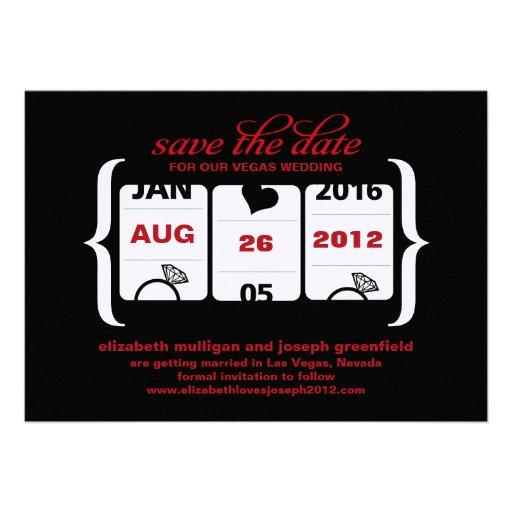 Slot Machine Save the Date - Wedding Personalized Invite