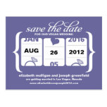Slot Machine Save the Date - Wedding Post Cards