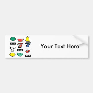 Slot Machine Slots Fruits - Play To Win Charms Car Bumper Sticker