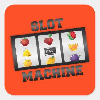 Slot Machine Square Sticker