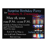 "Slot Machine Surprise Birthday Party 5"" X 7"" Invitation Card"
