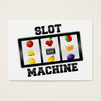 Slot Machine Tilted Icon Business Card
