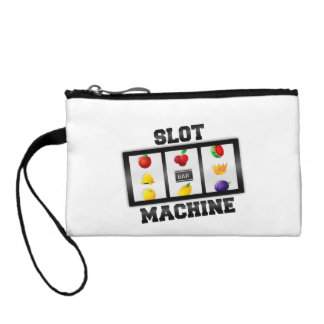Slot Machine Tilted Icon Coin Wallet