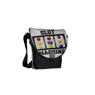 Slot Machine Tilted Icon Courier Bag