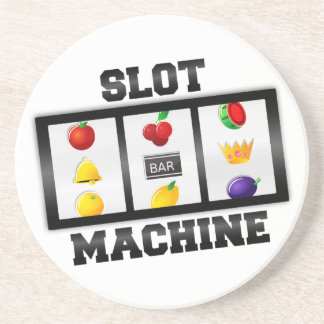 Slot Machine Tilted Icon Drink Coaster