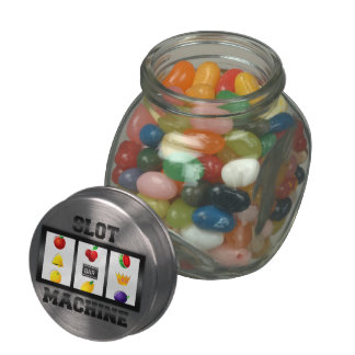 Slot Machine Tilted Icon Glass Jar