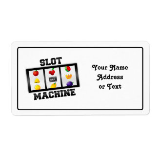 Slot Machine Tilted Icon Label