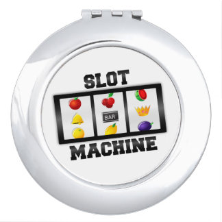 Slot Machine Tilted Icon Compact Mirrors