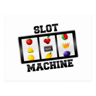Slot Machine Tilted Icon Postcard