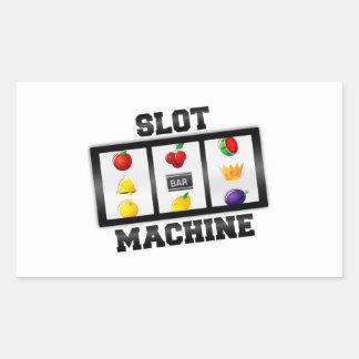 Slot Machine Tilted Icon Rectangular Sticker