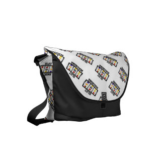 Slot Machine Tilted Icon Small Messenger Bag