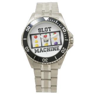 Slot Machine Tilted Icon Wrist Watch
