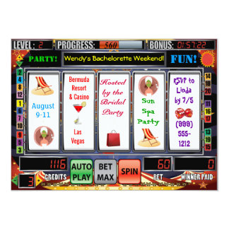 Slot Machine Vegas Bachelorette Weekend Invites