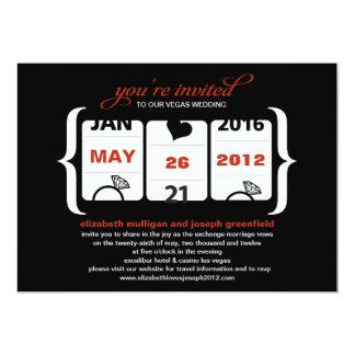 "Slot Machine Wedding Invitation 5"" X 7"" Invitation Card"