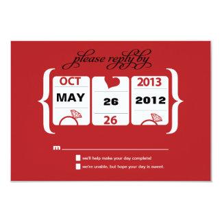 Slot Machine Wedding RSVP Card